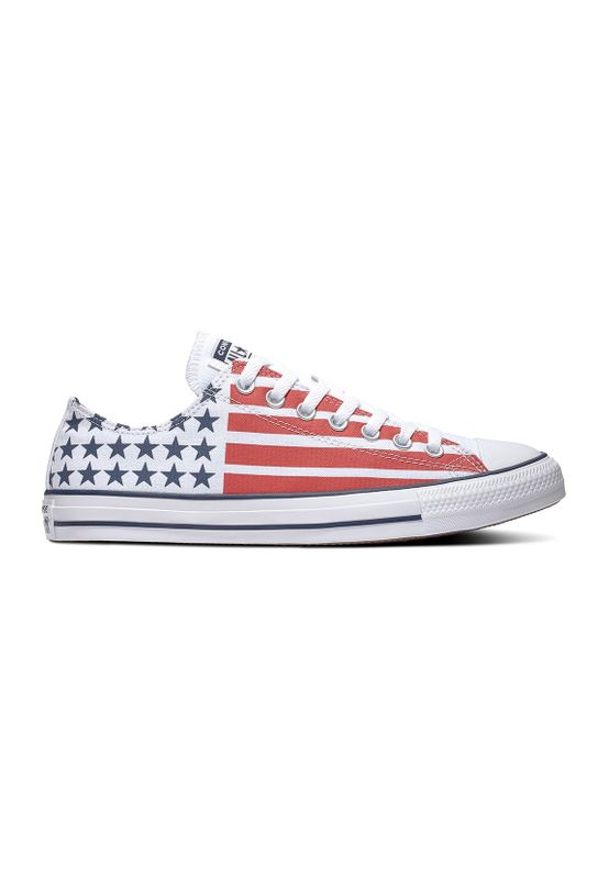 Converse Chucks CTAS OX 167838C White/ Obsidian/University Red Ansicht