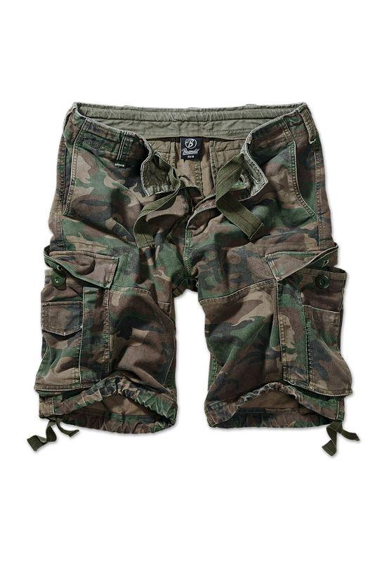 Brandit Shorts VINTAGE CARGO SHORTS BD2002 Olive Camo Ansicht