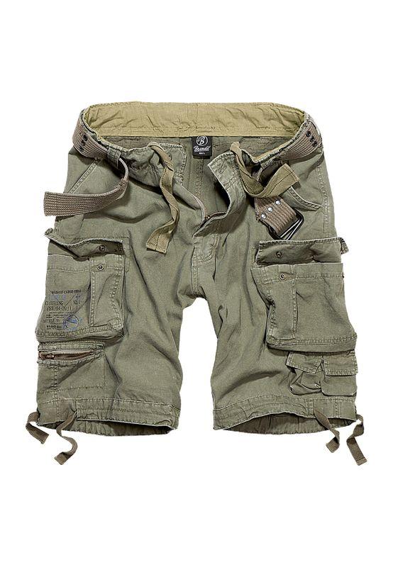 Brandit Shorts SAVAGE VINTAGE CARGO SHORTS BD2001 Olive Ansicht