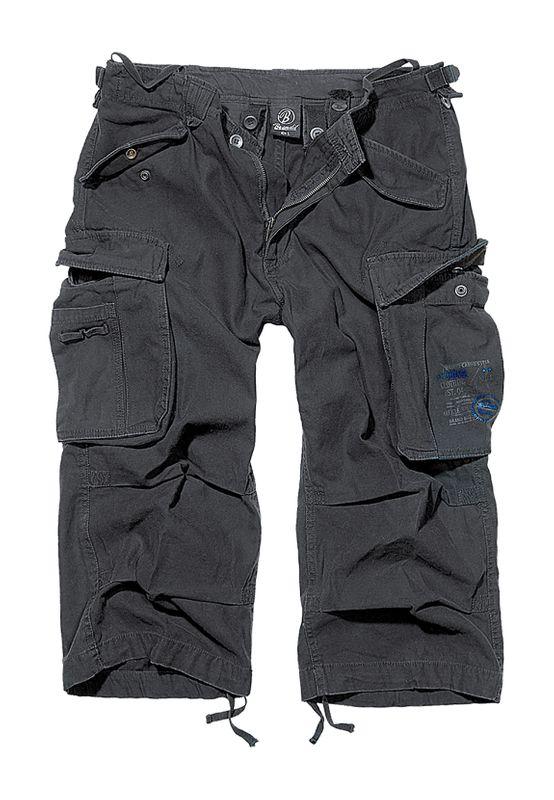 Brandit Shorts INDUSTRY VINTAGE CARGO 3/4 SHORTS BD2003 Black Ansicht
