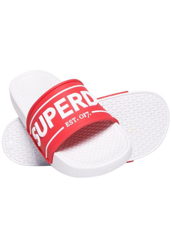 Superdry Bade-Sandalen Damen EDIT CHUNKY SLIDE Red Ansicht