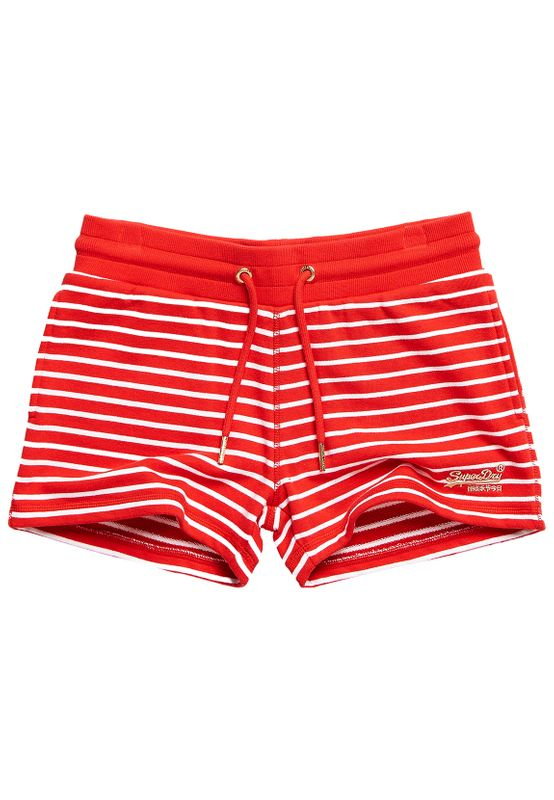 Superdry Shorts Damen ORANGE LABEL CLASSIC SHORT Red Stripe Ansicht