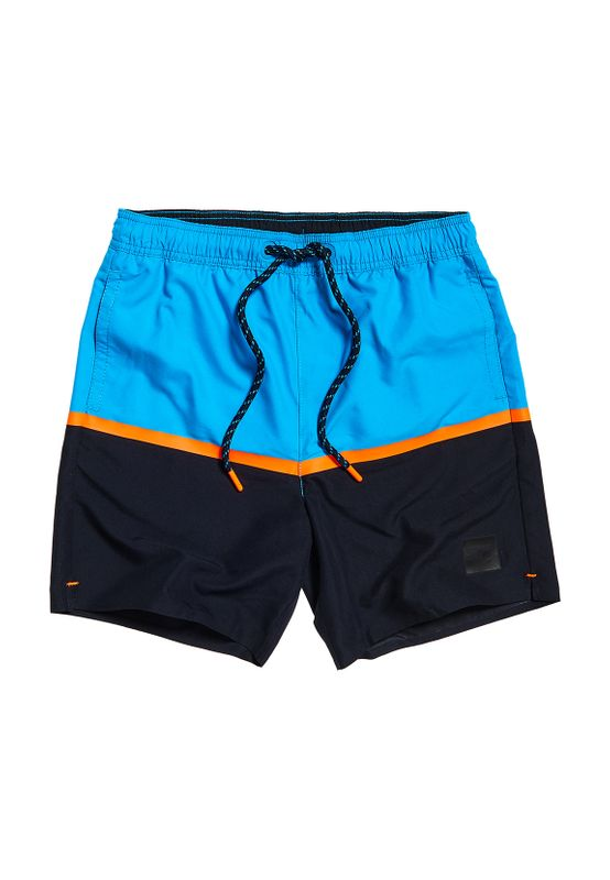 Superdry Badeshorts Herren COLOUR BLOCK SWIM Hawaiian Ocean Ansicht