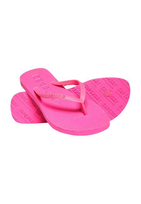 Superdry Zehentrenner Damen SUPER SLEEK FLURO Fluro Pink Ansicht