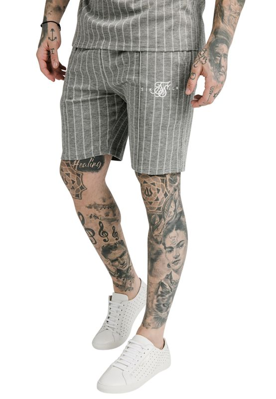 SikSilk Shorts Herren PLEATED SMART SHORTS SS-17366 Black White Dogtooth Ansicht