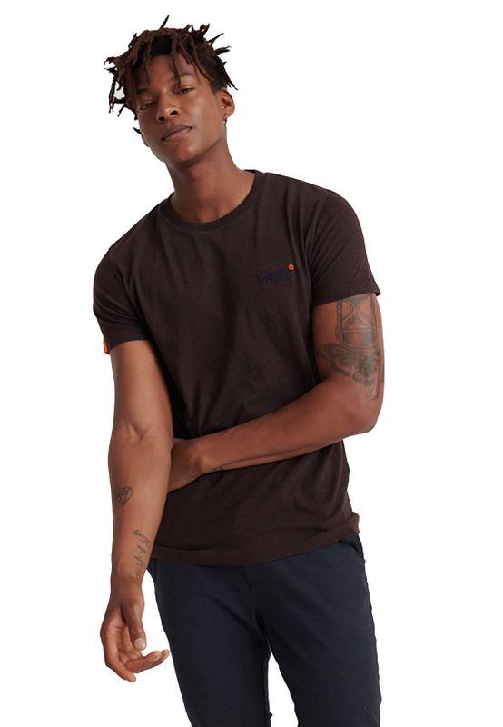 Superdry T-Shirt Herren OL VINTAGE EMBROIDERY TEE Mulled Burgundy Marl Ansicht