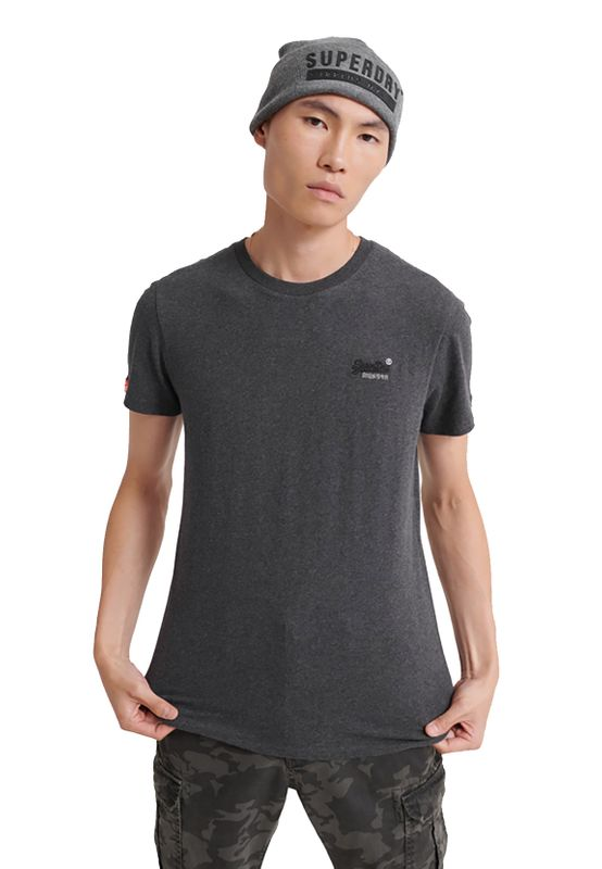 Superdry T-Shirt Herren OL VINTAGE EMBROIDERY TEE Nordic Charcoal Marl Ansicht