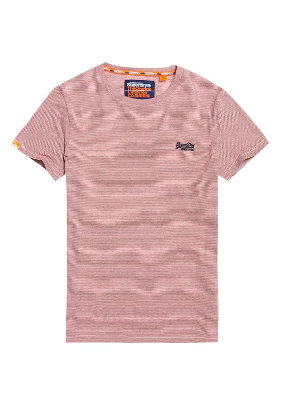 Superdry T-Shirt Herren ORANGE LABEL VINTAGE EMBROIDER Feeble Red Feeder Ansicht