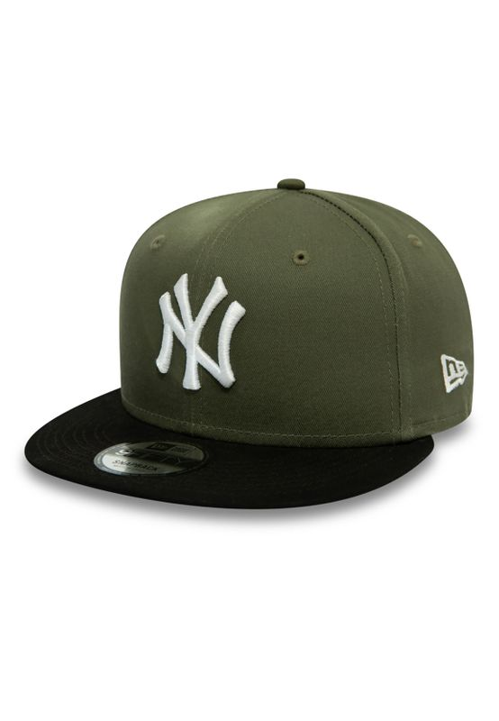 New Era Colour Block 9Fifty Snapback Cap NY YANKEES Khaki Schwarz Ansicht