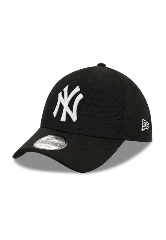 New Era Diamond Era 9Forty Adjustable Cap NY YANKEES Schwarz Weiß Ansicht