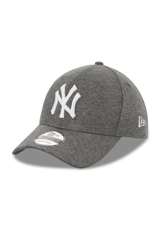 New Era Jersey 9Forty Adjustable Cap NY YANKEES Dunkelgrau Weiß Ansicht