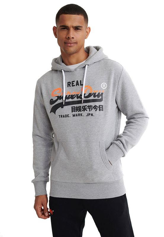Superdry Sweater Herren VL STRIPE HOOD Grey Marl Ansicht