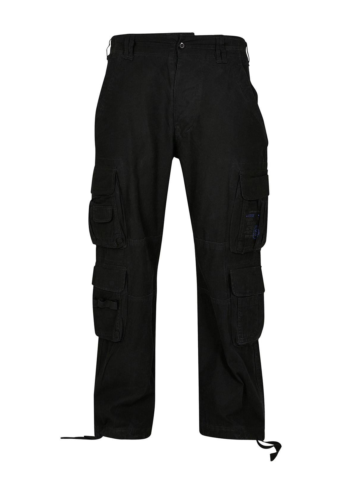 Brandit Cargohose VINTAGE CARGO PANTS BD1003 Black