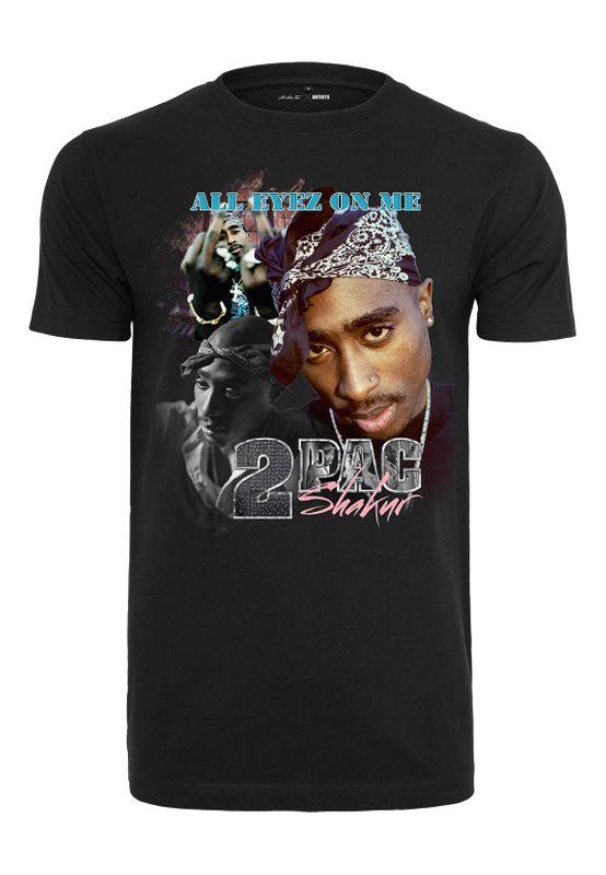 Mister Tee T-Shirt TUPAC RETRO TEE MT621 Black Ansicht