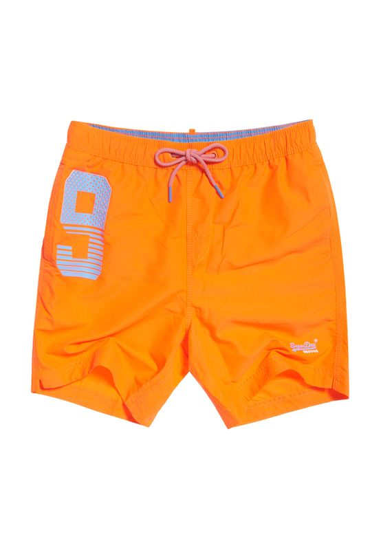 Superdry Badeshorts Herren WATERPOLO SWIM SHORTS Havana Orange Ansicht