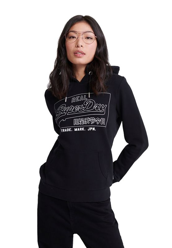 Superdry Hoody Damen VL OUTLINE ENTRY HOOD Black Ansicht