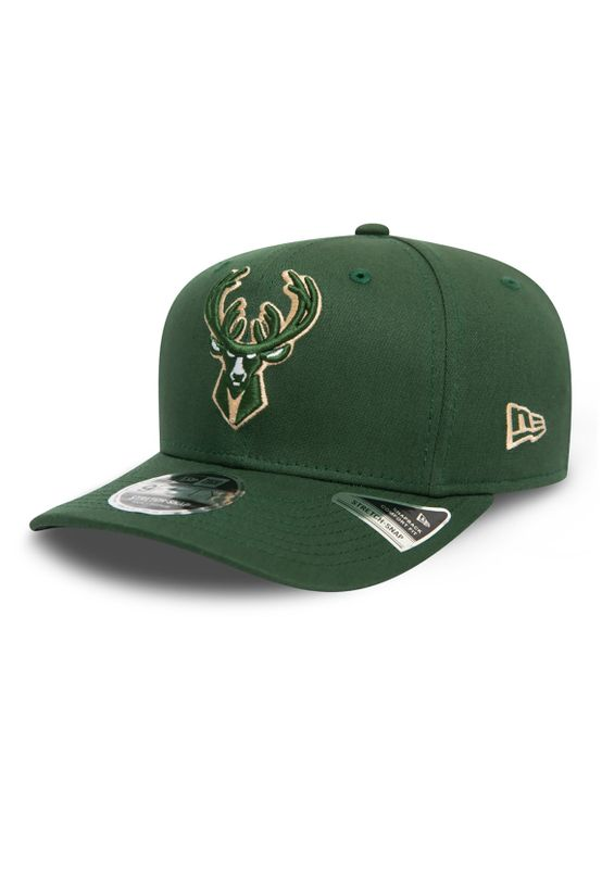 New Era Team Stretch 9Fifty Snapback Cap MILWAUKEE BUCKS Grün Ansicht
