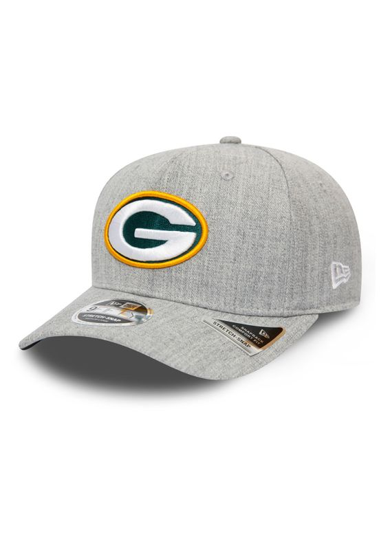 New Era Heather Base 9Fifty Snapback Cap GREEN BAY PACKERS Grau Ansicht