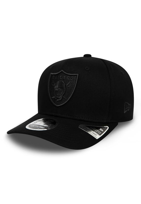 New Era Tonal Black KTD 9Fifty Kinder Snapback Cap OAKLAND RAIDERS Schwarz Schwarz Ansicht