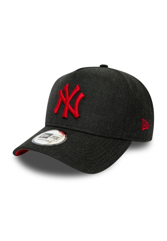 New Era Heather Pop AFrame 9Forty Adjustable Cap NY YANKEES Schwarz Rot Ansicht