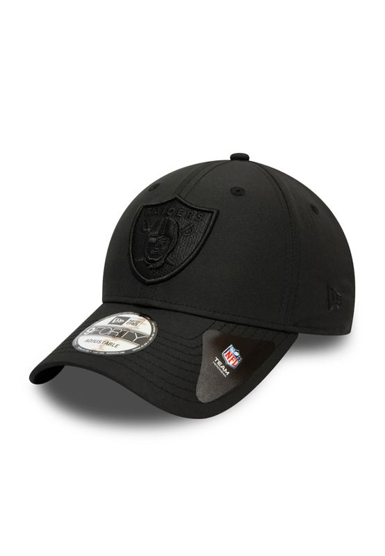 New Era Tonal Nylon 9Forty Adjustable Cap OAKLAND RAIDERS Schwarz Schwarz Ansicht
