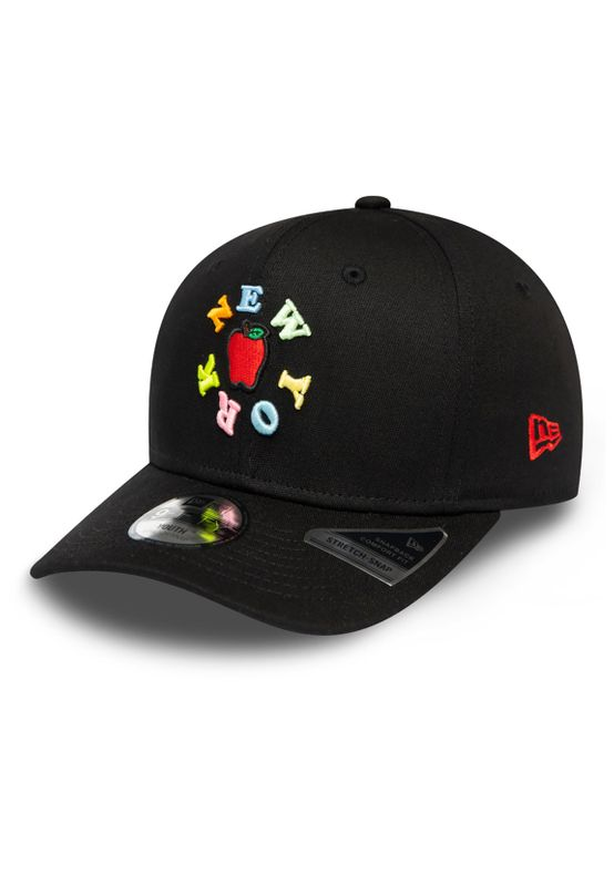 New Era Kids 9Fifty Snapback Cap NY APPLE Schwarz Ansicht