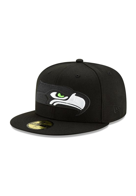 New Era NFL Elements 59Fifty Cap SEATTLE SEAHAWKS Schwarz Ansicht