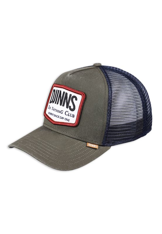 Djinns Trucker Cap NOTHING CLUB #2 HEATDYE Olive Ansicht