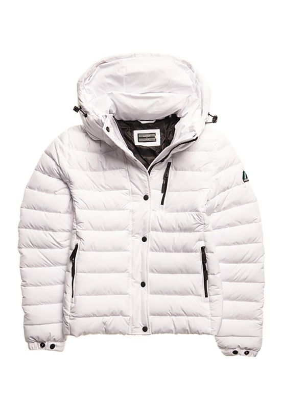 Superdry Jacke Damen SPIRIT SPORTS PUFFER White Ansicht