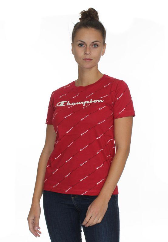Champion T-Shirt Damen 113224 F20 RL508 CMR/Allover Rot Ansicht