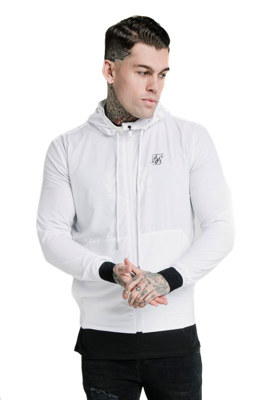 SikSilk Sweatjacke Herren AGILITY POLY RIB ZIP THROUGH HOODIE SS-16750 White Ansicht