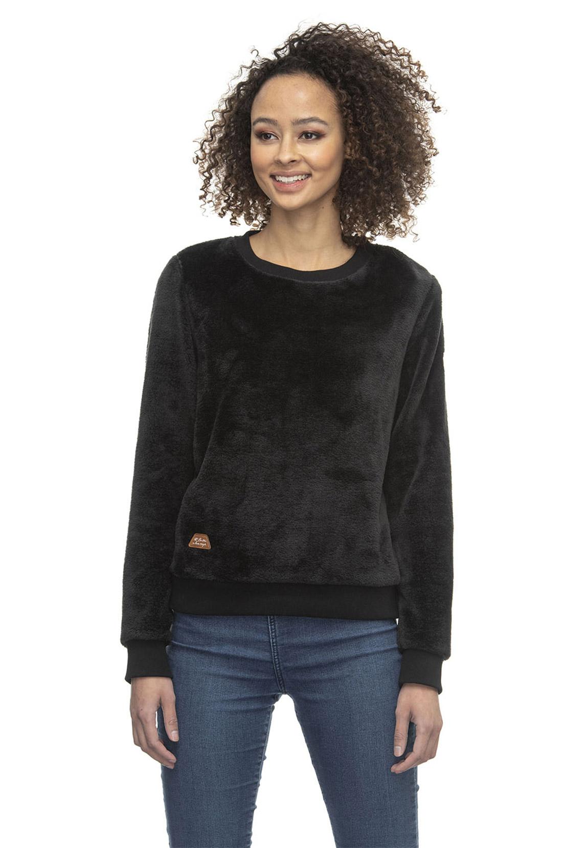 Ragwear Sweater Damen MAYSHA 2021-30011 Schwarz Black 1010