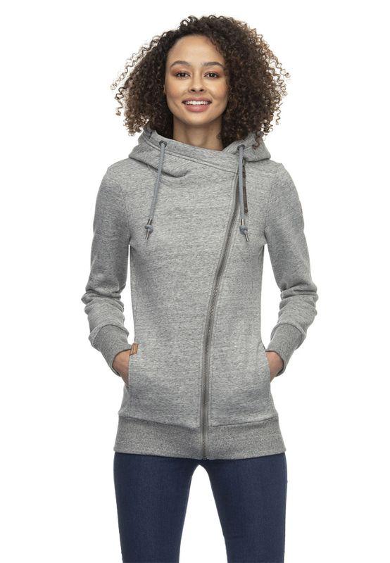 Ragwear Zipper Damen ANEZKA 2021-30051 Grau Grey 3000 Ansicht