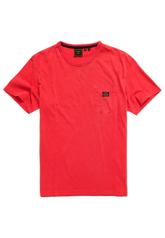 Superdry T-Shirt Herren GMT DYE BOX FIT TEE Rouge Red Ansicht