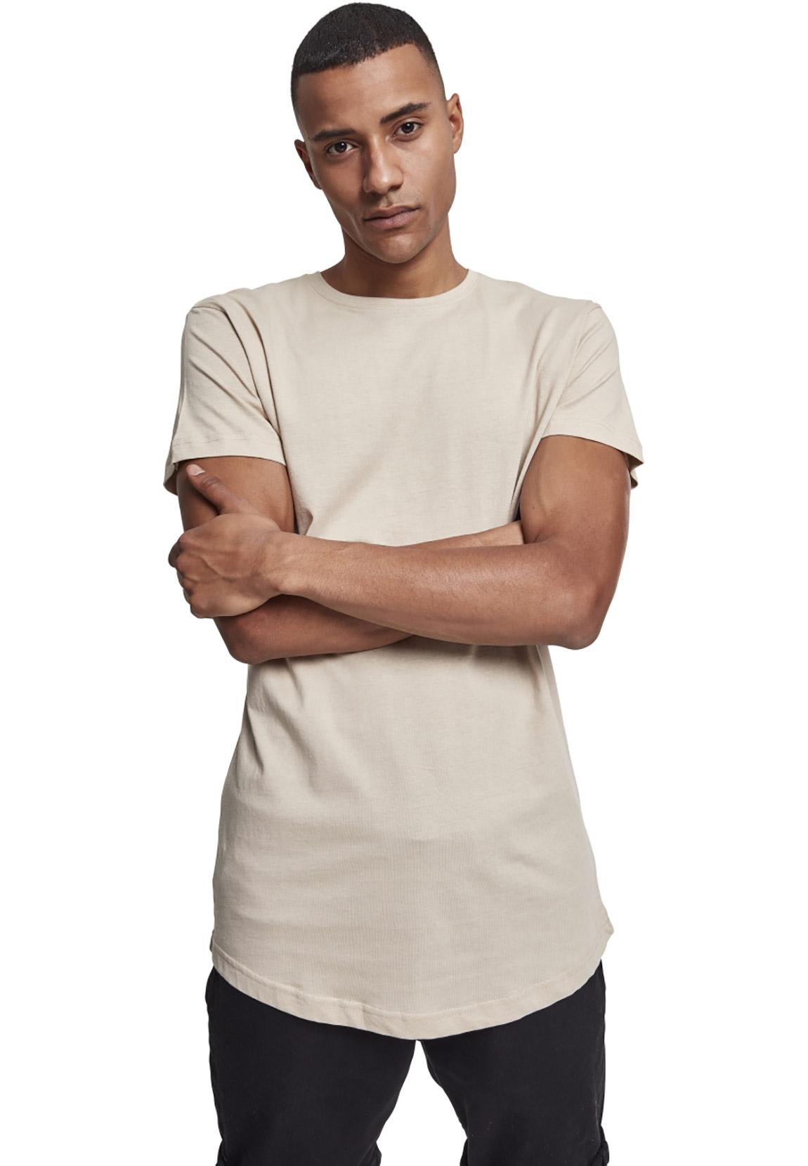Urban Classics T Shirt Herren SHAPED LONG TEE TB20 Beige Sand    Fashioncode.de Onlineshop