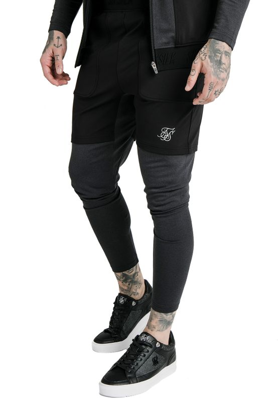SikSilk Jogginghose Herren ADVANCED TECH TRACK PANTS SS-16373 Black Ansicht