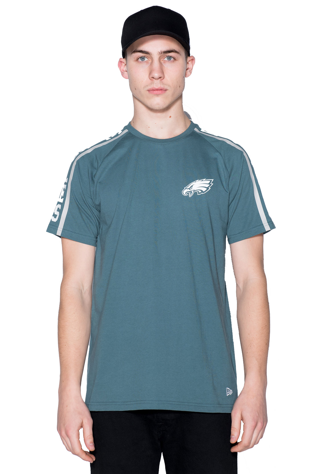 New Era NFL Raglan Shoulder Print T-Shirt Herren PHILADELPHIA EAGLES Türkis