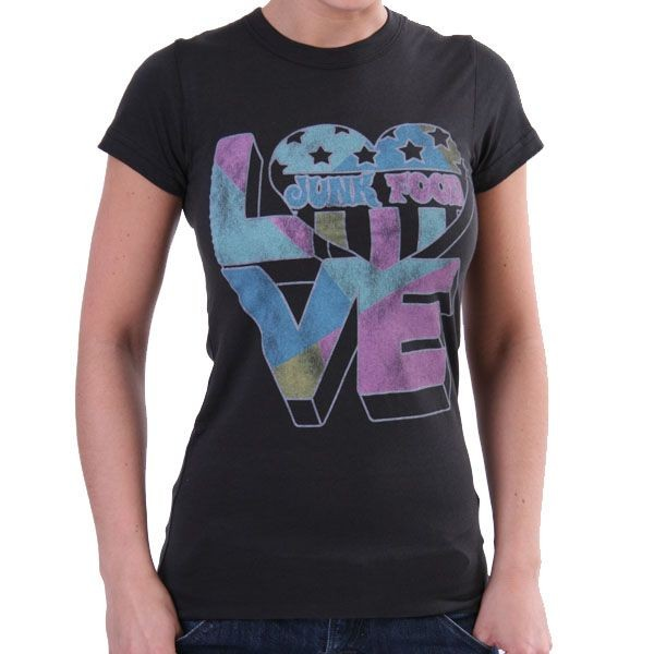 Junk Food T-Shirt Women - Love Junkfood - Schwarz – Bild 0