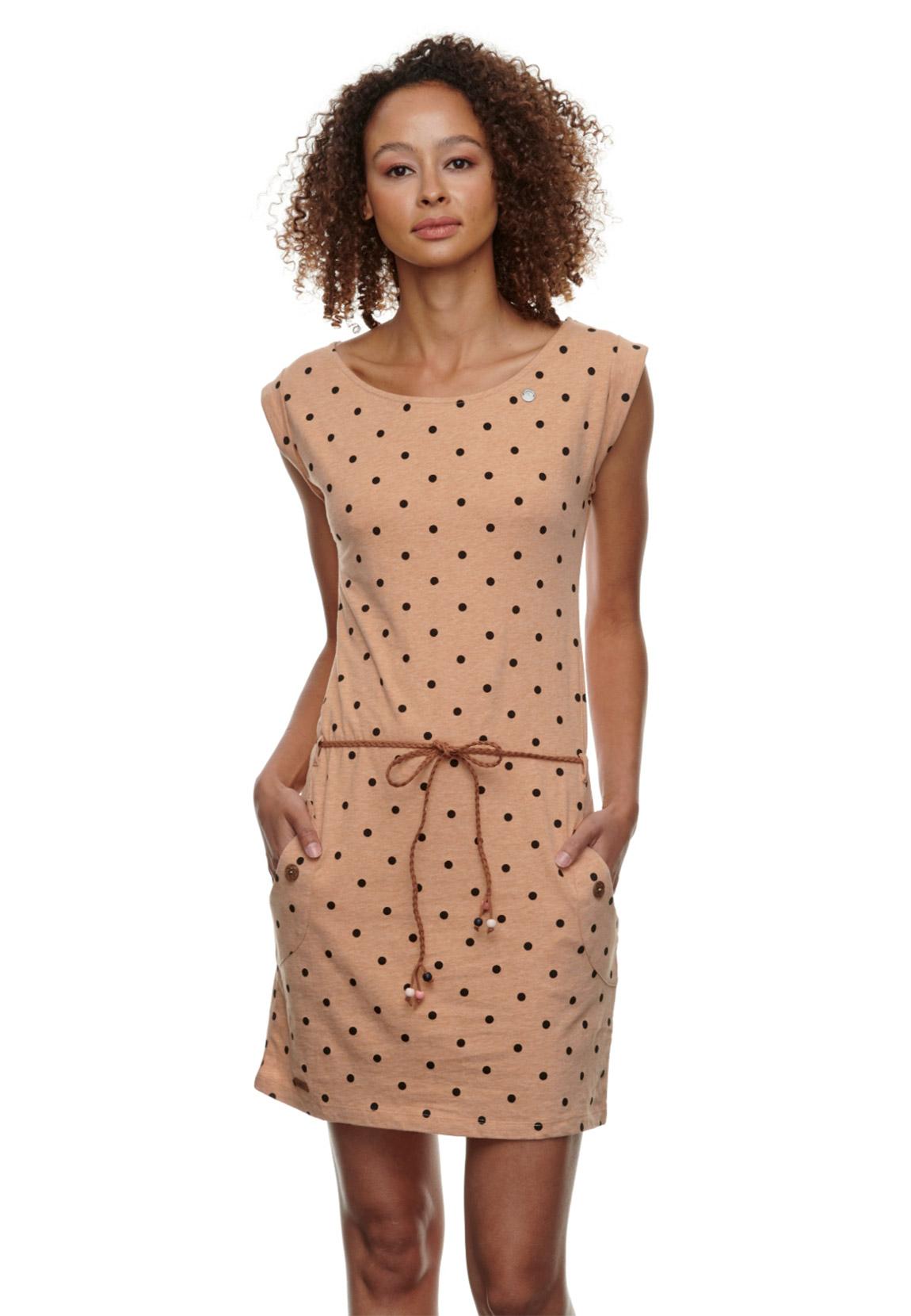 ragwear kleid damen tag dots 2111-20015 beige 6000 beige | fashioncode.de  onlineshop