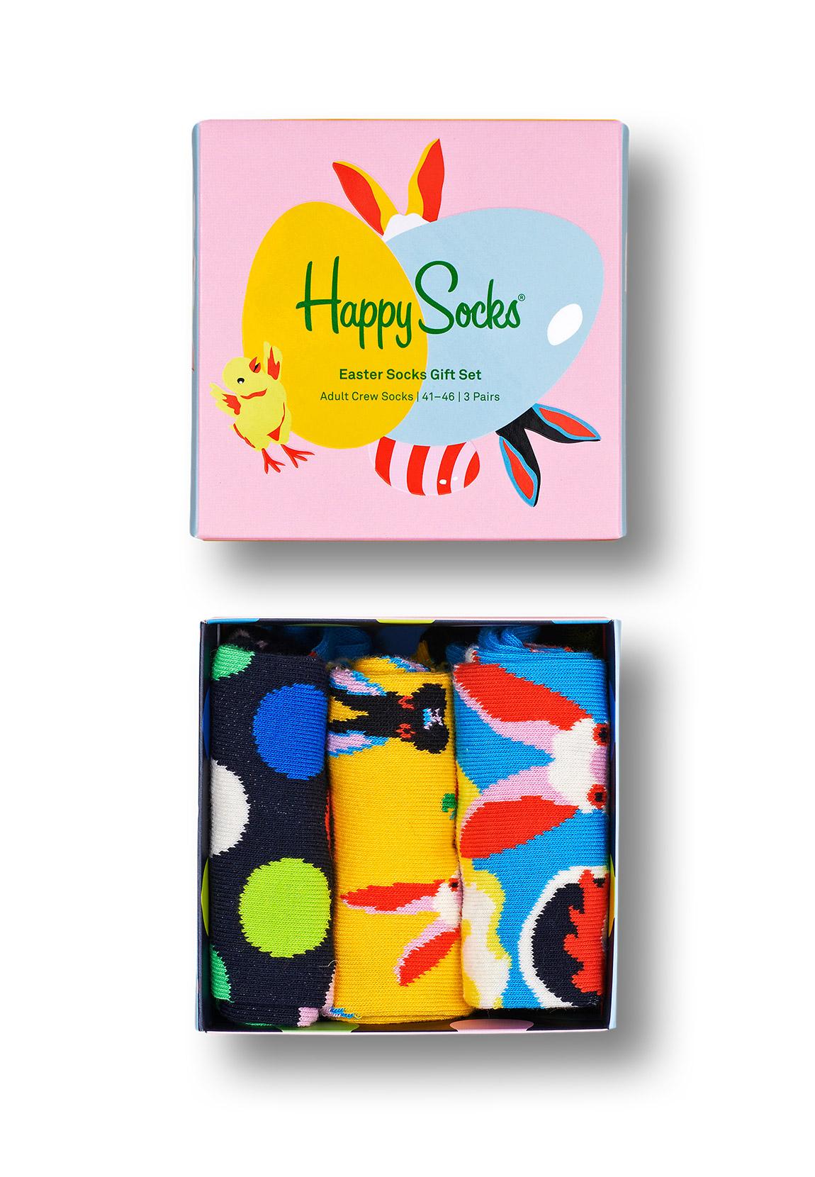 Happy Socks Geschenkbox EASTER SOCKS GIFT SET 3-PACK XEAS08-0200 Mehrfarbig