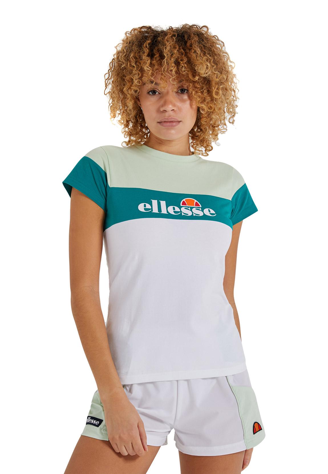 Ellesse T-Shirt Damen CAKE TEE White Weiß Grün