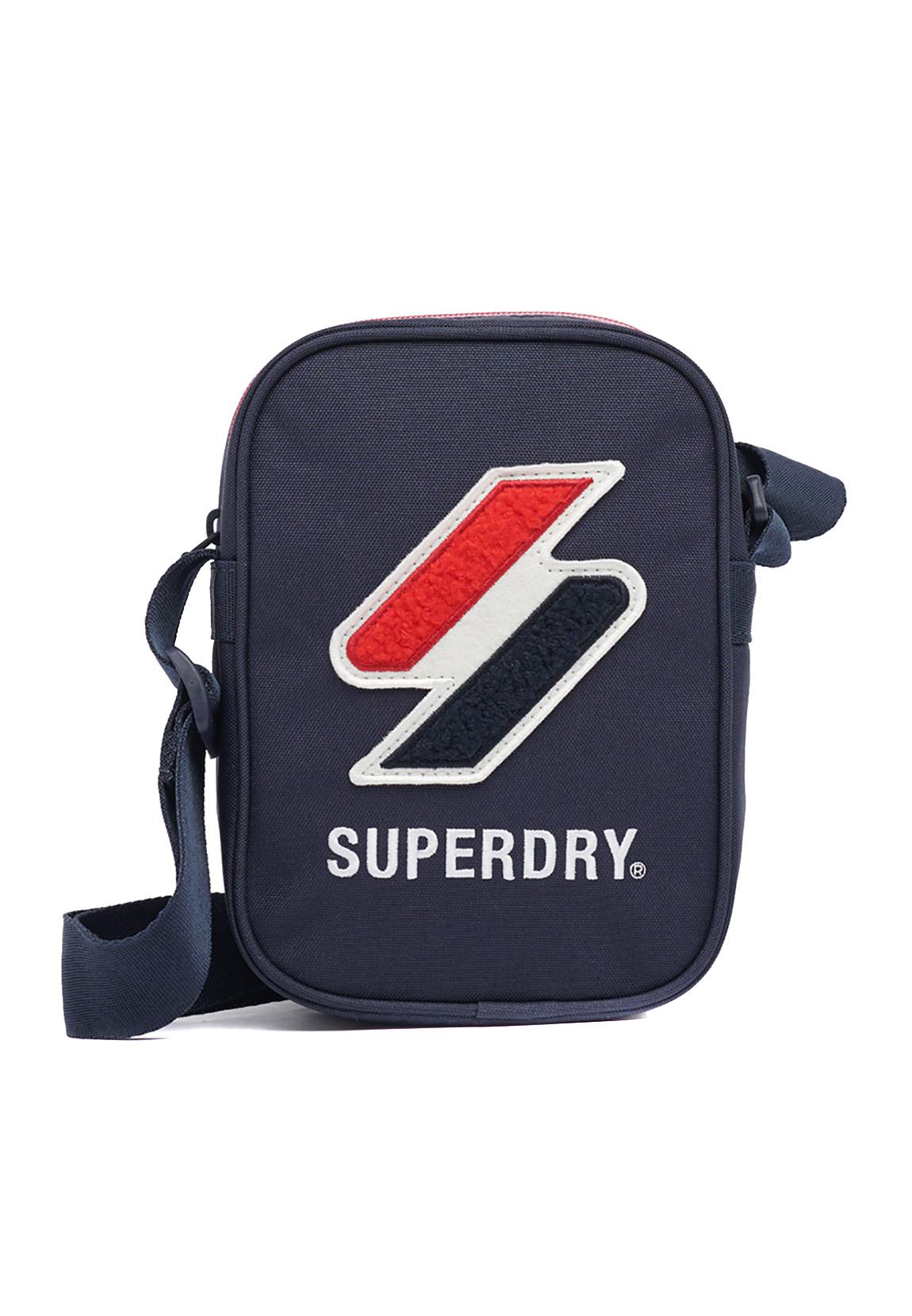 Superdry Citybag SPORTSTYLE SIDE BAG Deep Navy Dunkelblau