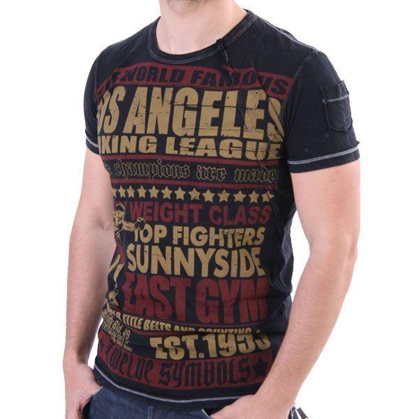 Twelve Symbols T-Shirt Men - Sunnyside East Gym - Schwarz – Bild 1