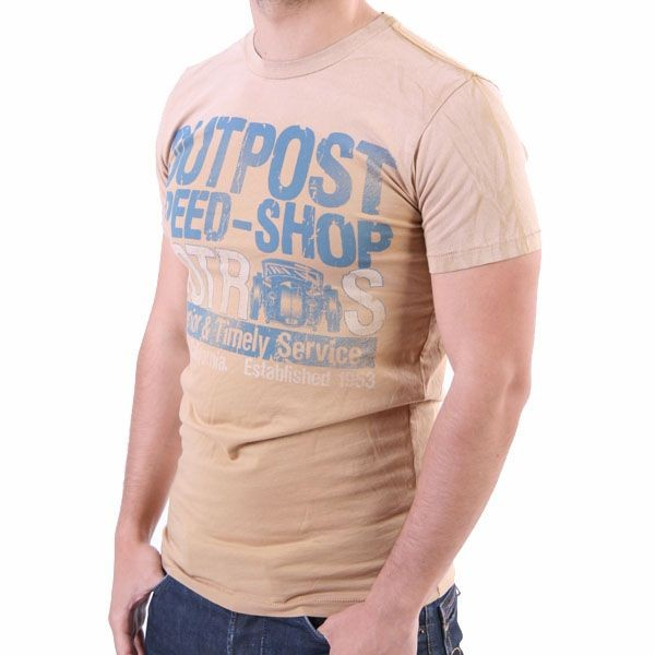 Outpost T-Shirt Men - Outpost Speed - Cappuccino – Bild 0