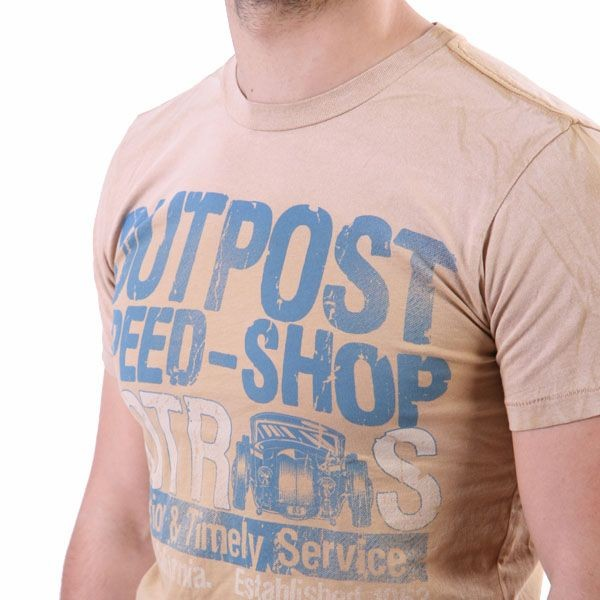 Outpost T-Shirt Men - Outpost Speed - Cappuccino – Bild 2