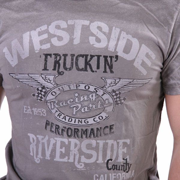 Outpost T-Shirt Men - West Side Truckin - Grau – Bild 3
