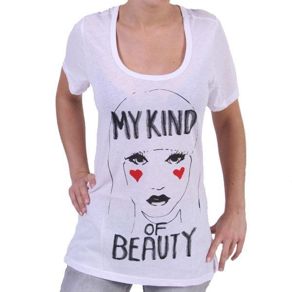 Junk Food Boyfriend T-Shirt Women - My Kind of Beauty - Weiss – Bild 1