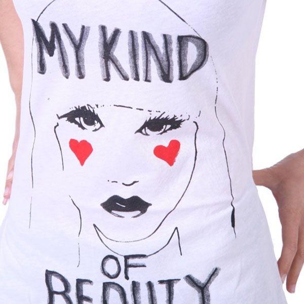 Junk Food Boyfriend T-Shirt Women - My Kind of Beauty - Weiss – Bild 3