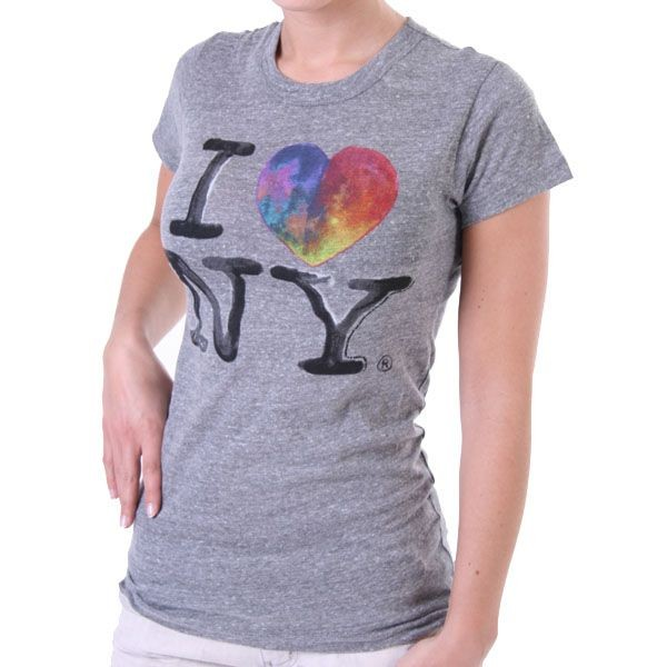 Junk Food T-Shirt Women - I love NY - Grau – Bild 0