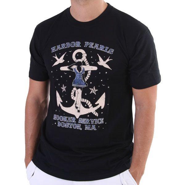 Porn Deluxe T-Shirt Men - Harbor Pearls - Schwarz – Bild 1